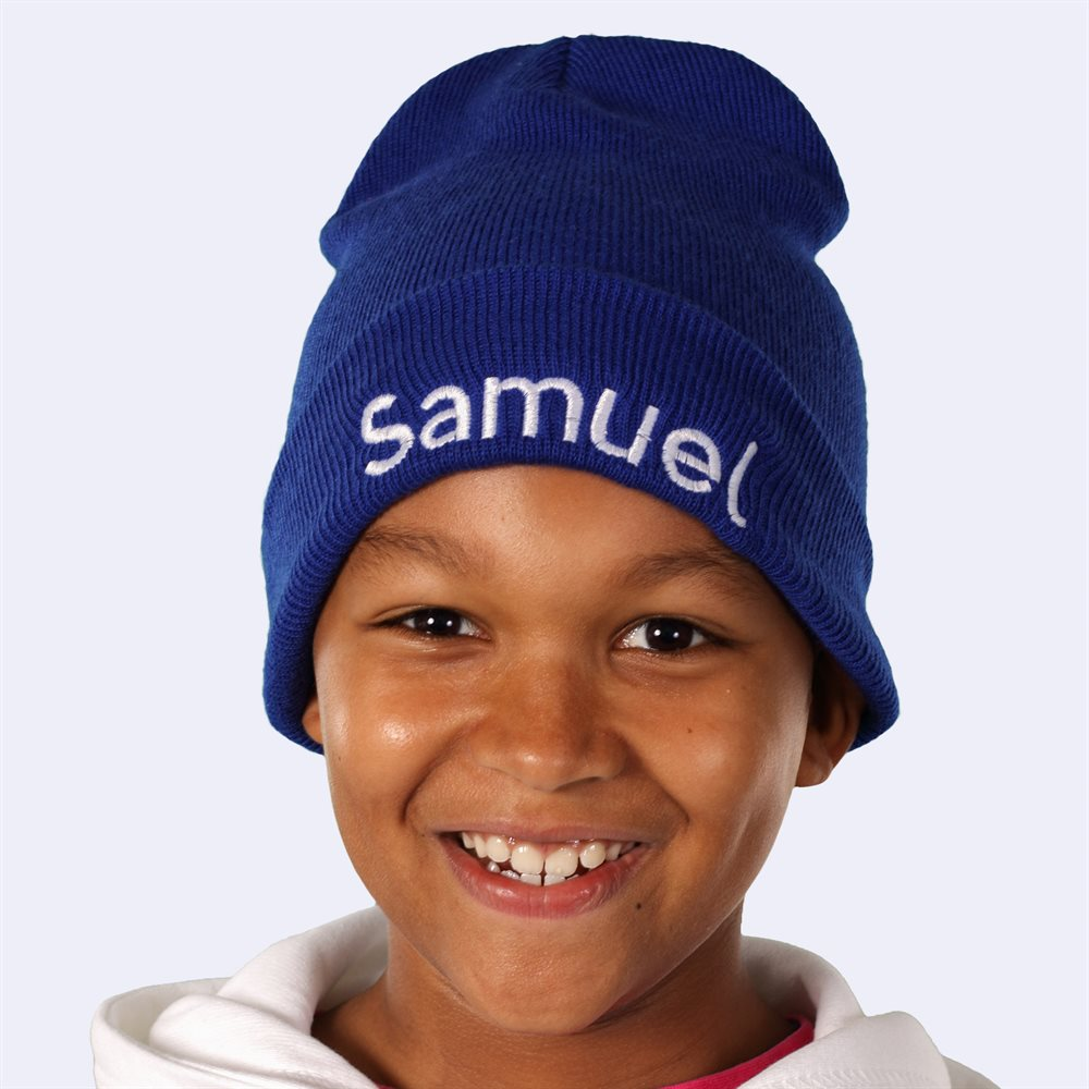 Gorros de lana personalizados para niños