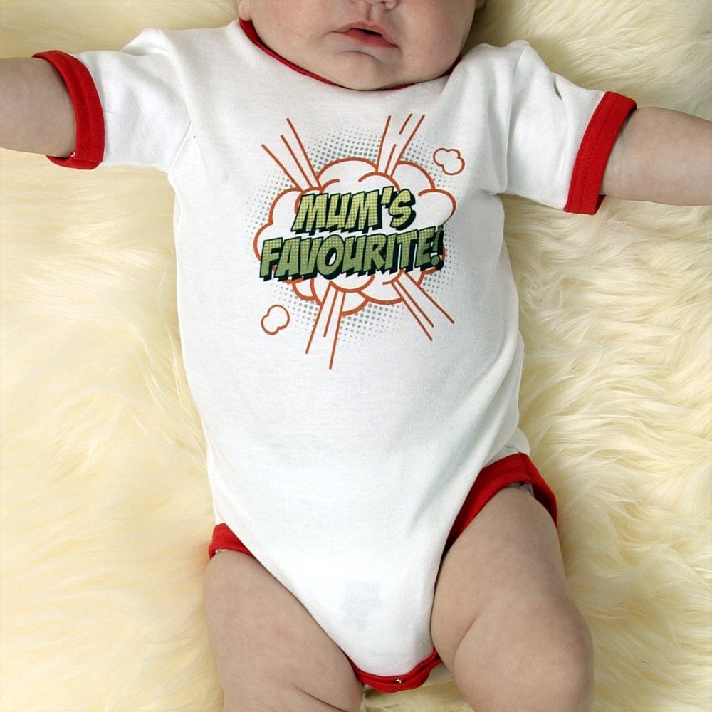 Personalised Ringer T-Shirt style Babygrow.