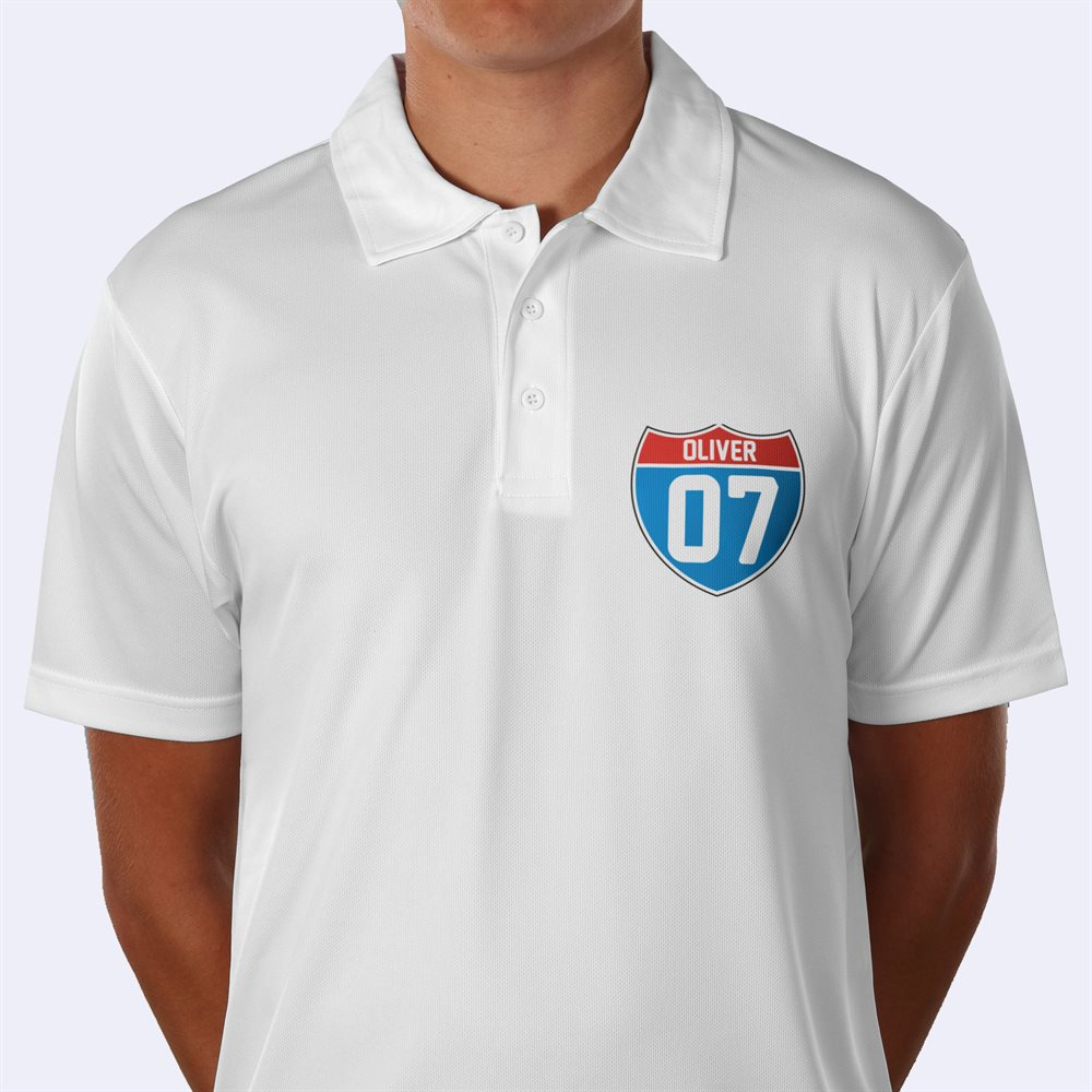 Impresión de camisa tipo polo deportiva personalizada