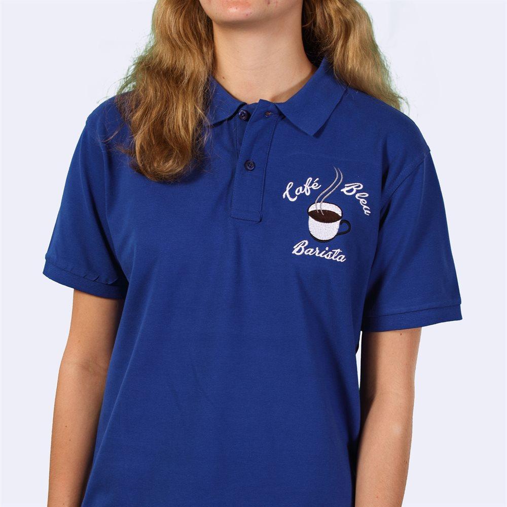 Camisa tipo polo a la moda bordada