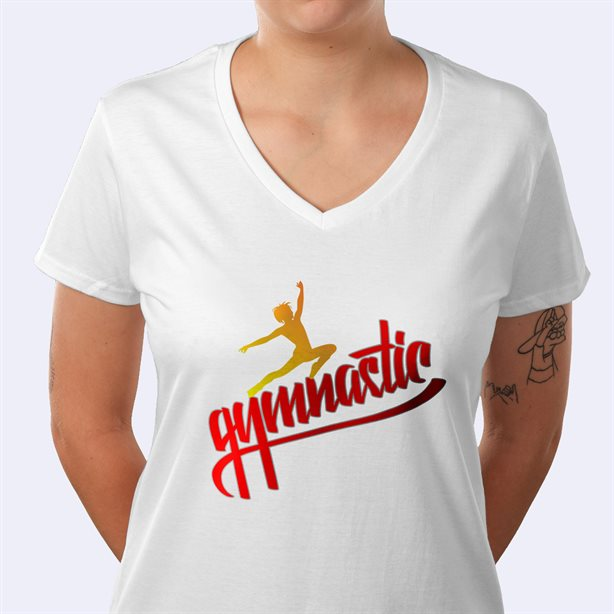 Impresión de camisetas con cuello en V Premium