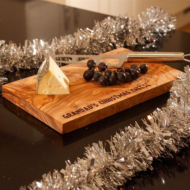 Engraved Olive Wood Platter / Board