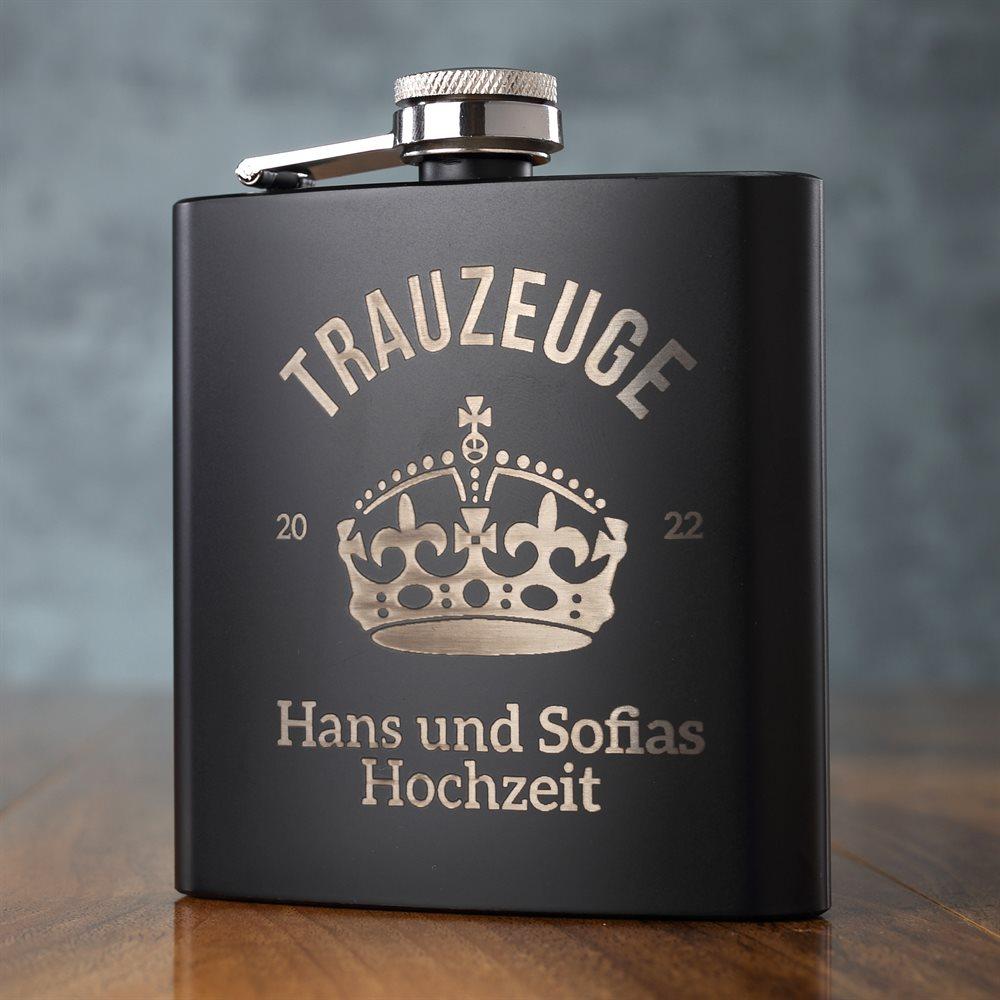 177ml schwarze Taschenflasche