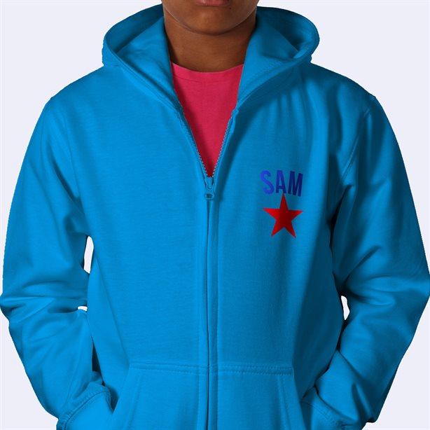 Personalised Kids Zip Hoodies