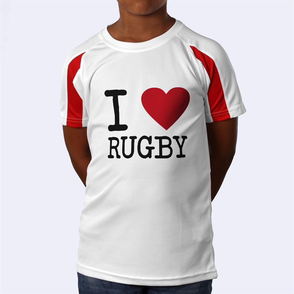 Personalised Kids Contrast Sports Shirt Printing