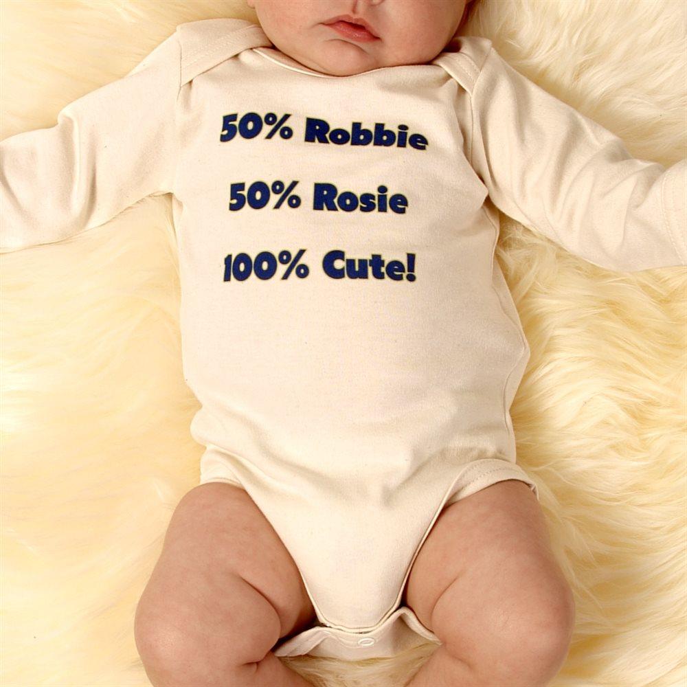 Personalised Long Sleeve Baby Grows