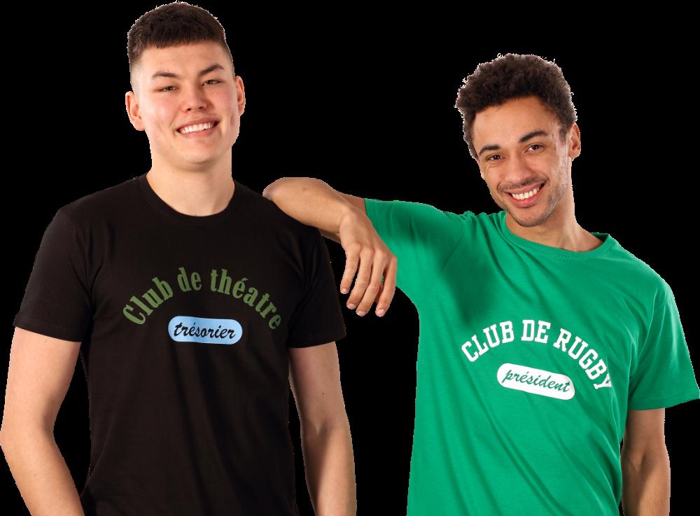 Impression sur T-shirt pour hommes