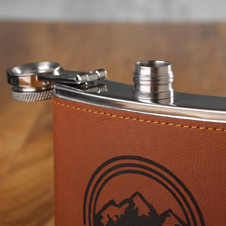 Hip Flask Leather