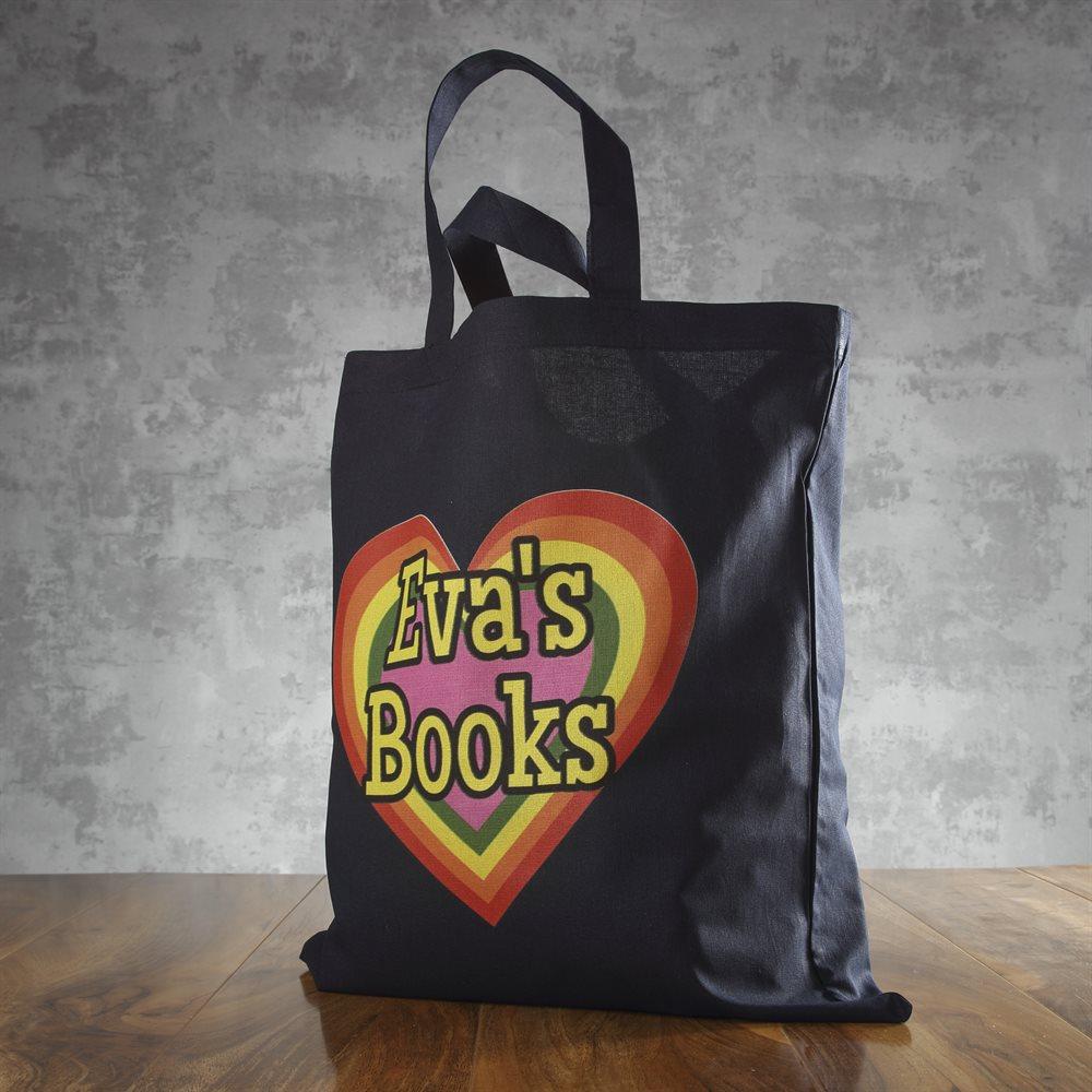 Personalised Short Handled Tote Bag
