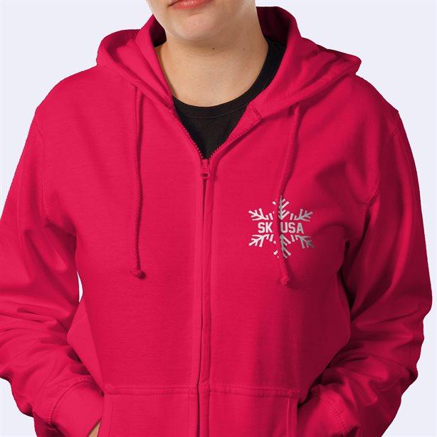 sweats à capuche zippés femmes personnalisés