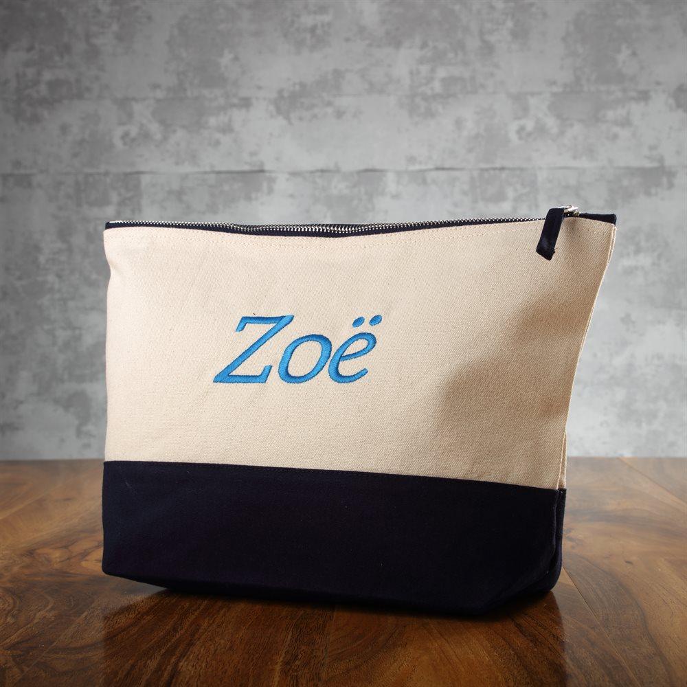 Bolsa para accesorios con dos tonos