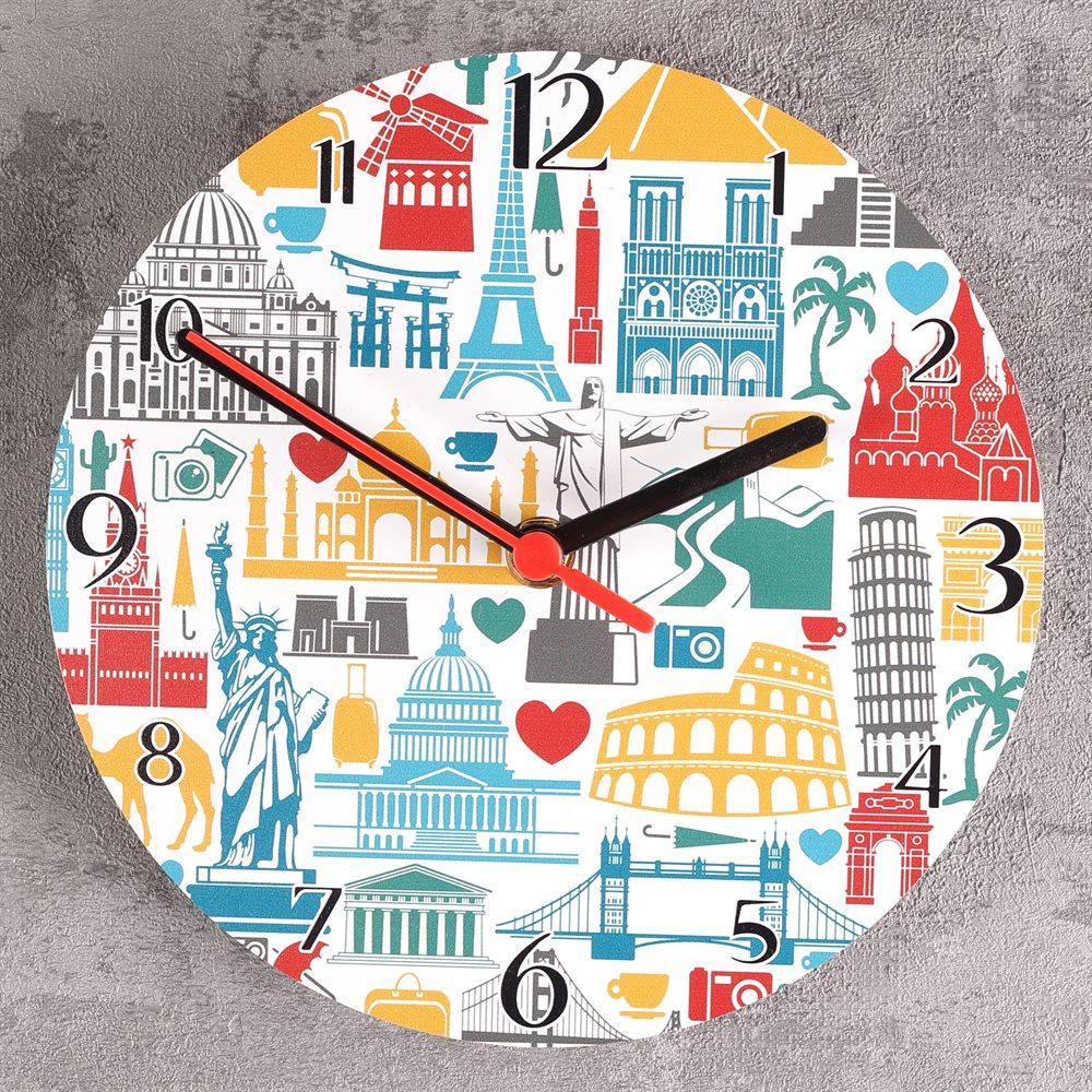 Reloj redondo grande con foto