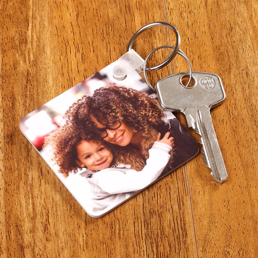 Foto-Schlüsselanhänger quadratisch