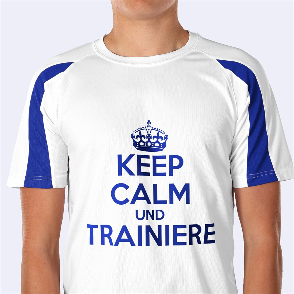 Personalisierte Kontrast Sportshirts bedrucken