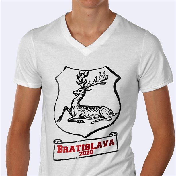 Personalised V-Neck T-Shirt Printing
