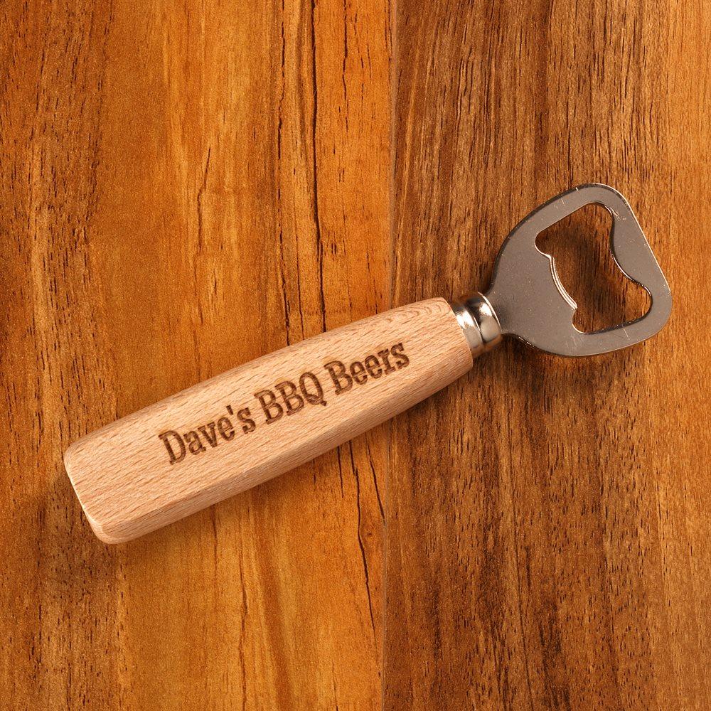Personalised Wood Handled Bottled Opener
