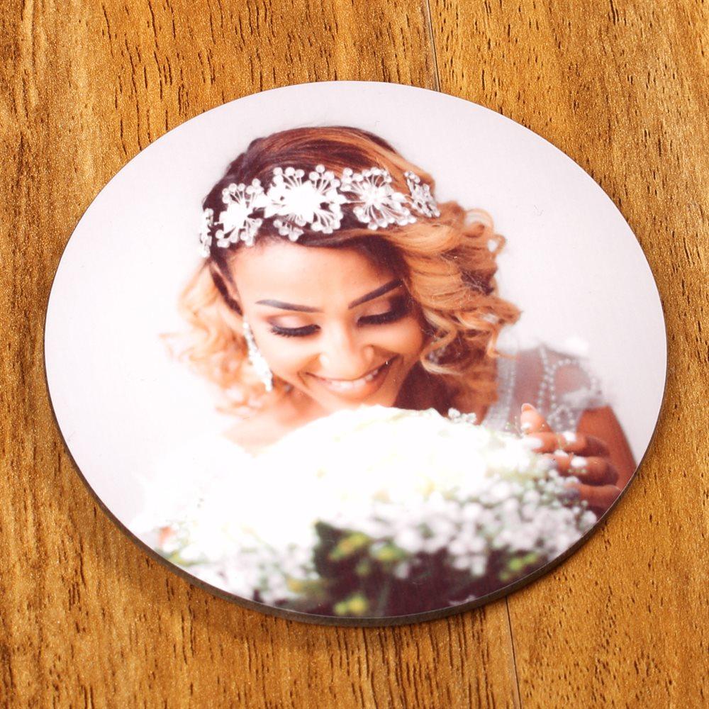 Round Personalised Printed Coaster