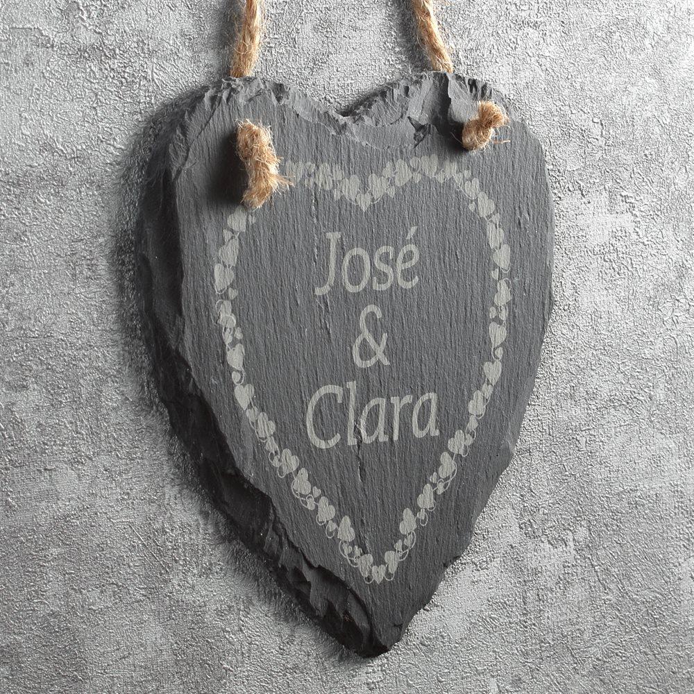 Slate Heart Wall Hanging