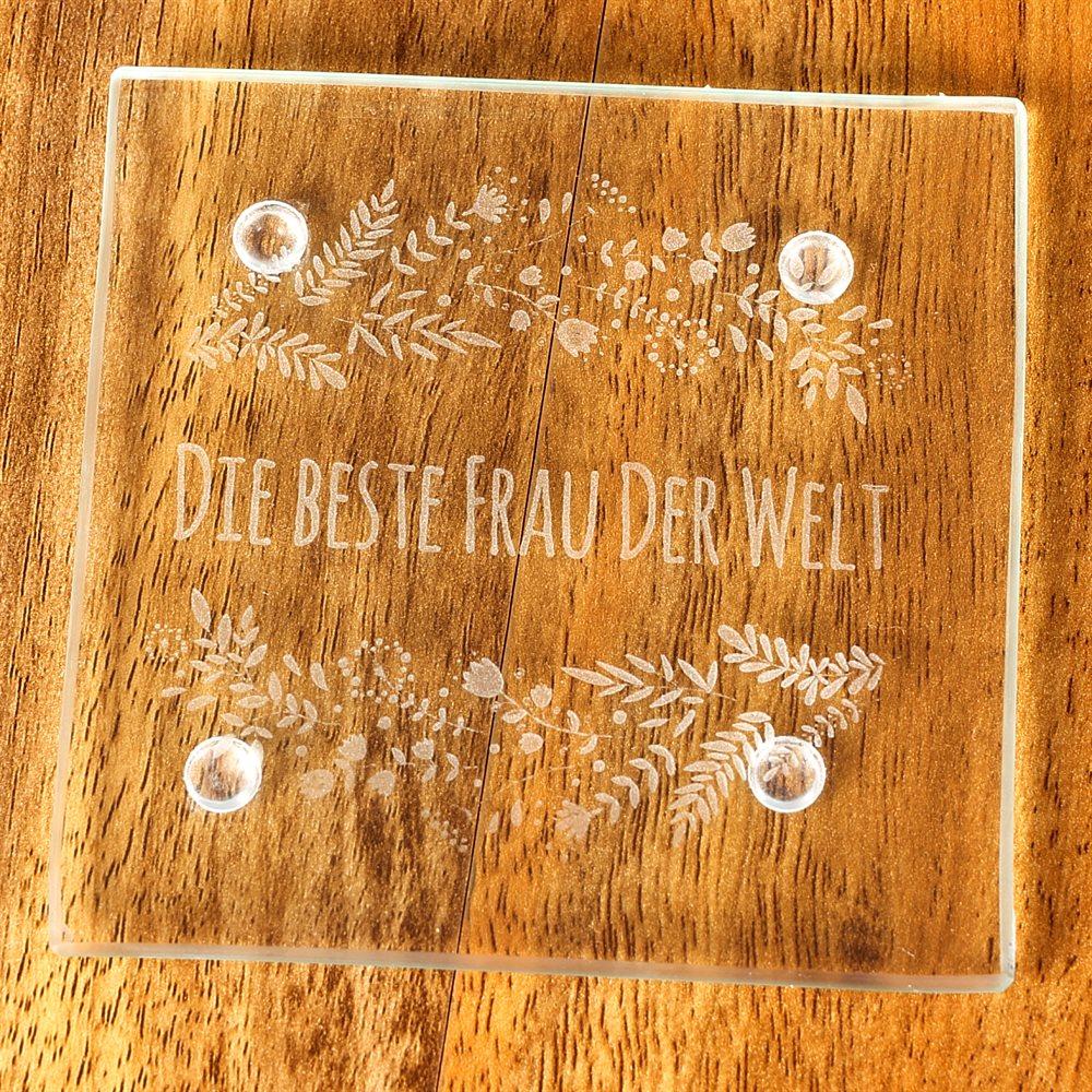 Lasermarkierte-Glas-Untersetzer