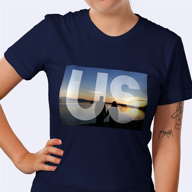 Personalised American Apparel Fitted T-Shirt