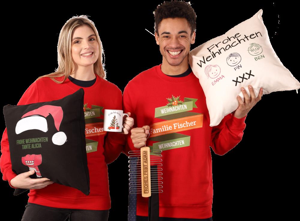 Personalisierte Weihnachtskleidung & Geschenke