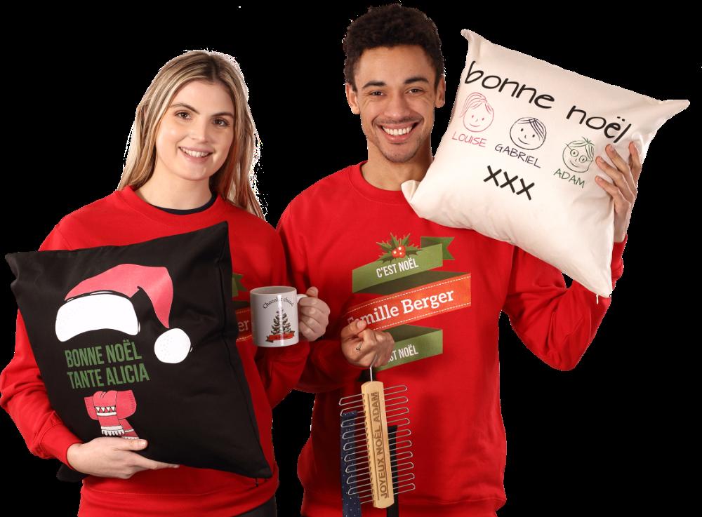 Vêtements & Cadeaux de Noël Personnalisés